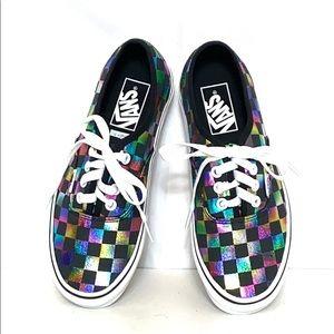 Vans Metallic Rainbow Checkered Low Top Sneakers 6